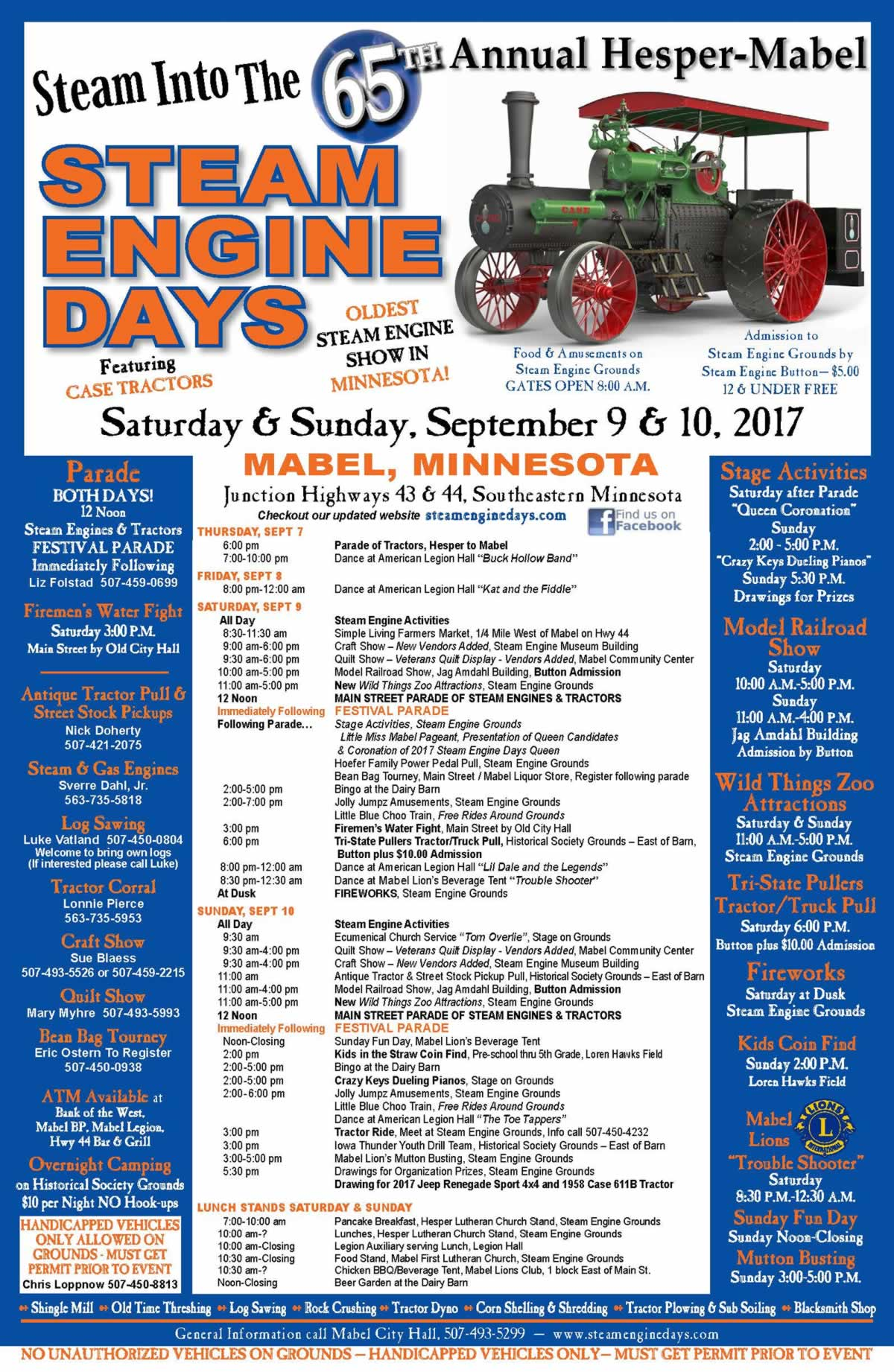 Hesper-Mabel Steam Engine Days 2017 - Mabel, Minnesota